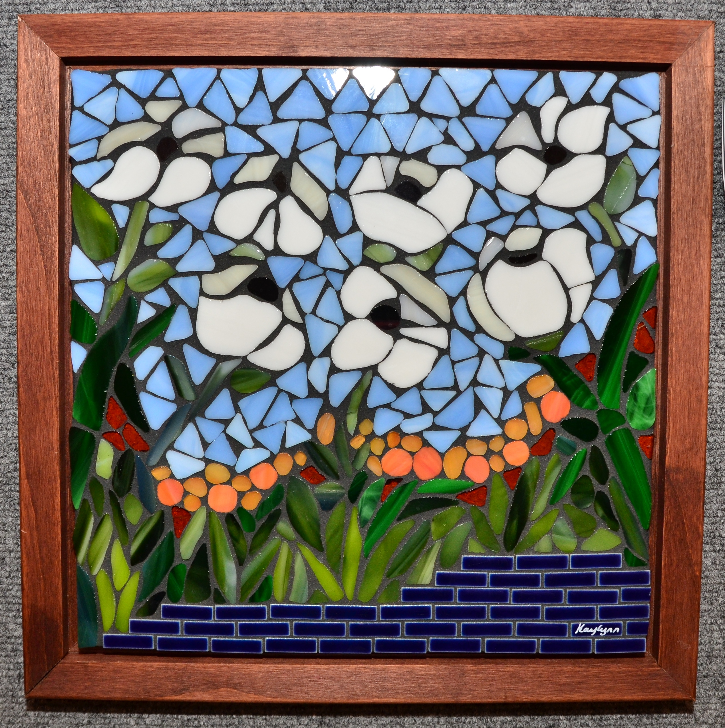 Make My Heart Sing Mosaics Gallery In The Garden White Flowers